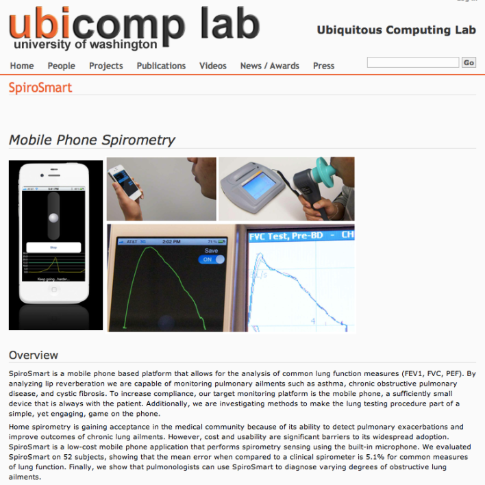 Ubicomp lab University of Washington