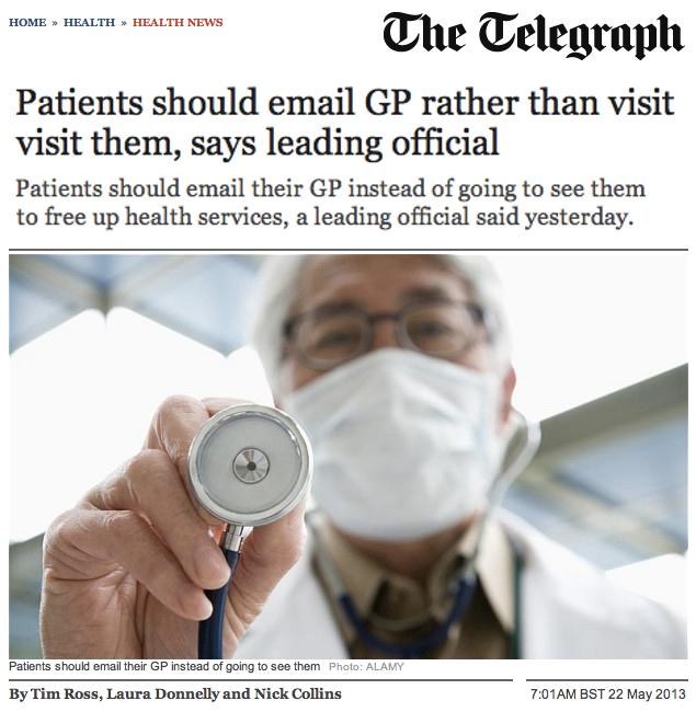 Patients should email GP rather than visit them