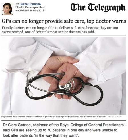 Telegraph GPs can no longer provide safe care