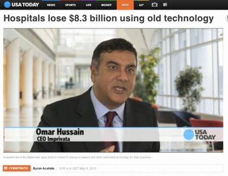 USA Today Hospitals Lose 83 Billion using old tech