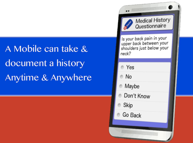 A Mobile Phone Can Take and Document a Medical History