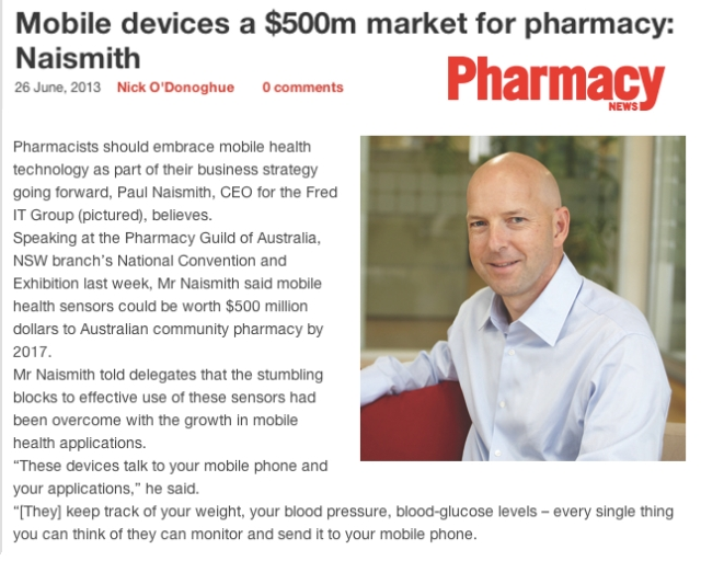 Pharmacy News Australia Mobile Devices a 500M market