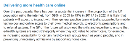 RCGP 2022 Delivering more health care online