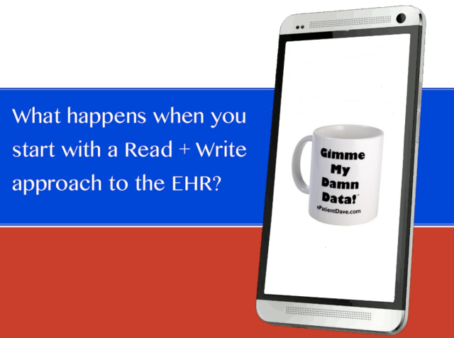What happens if we start with a read write approach to the EHR