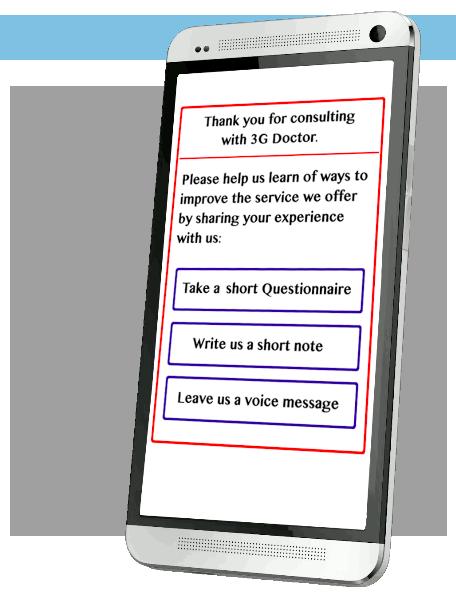 3G Doctor post consultation survey