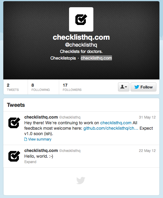 ChecklistHQ Twitter Account