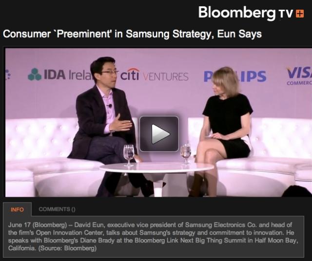 David Eun talking about Samsung Strategy at Bloombergs 2013 Next Big Thing Summit