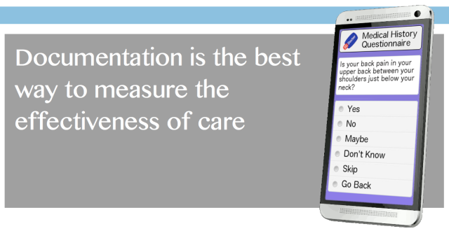 Documentation provides the best opportunity to measure the effectiveness of care