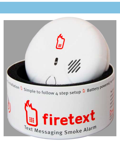 Firetext mobile connected Smoke Alarm