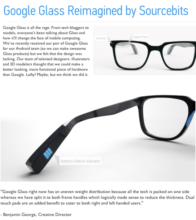 Google Glass Reimagined by Sourcebits