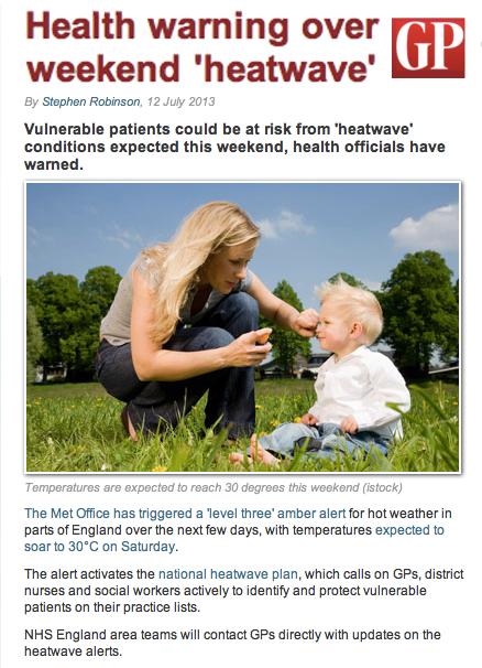 GP News Heatwave Warning