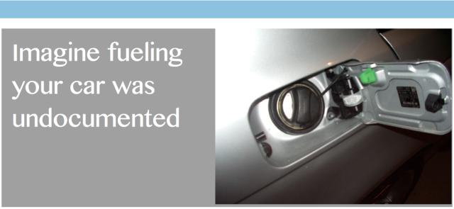 Imagine if fueling your car was undocumented