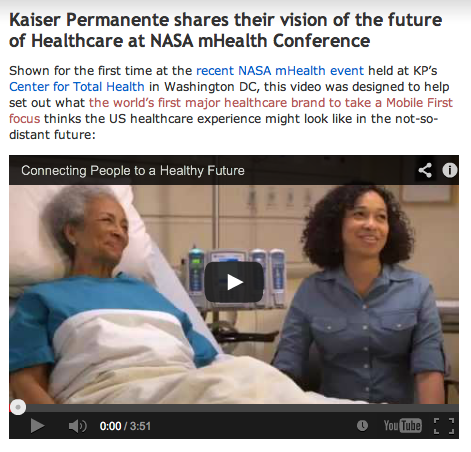Kaiser Permanente Vision of the Future of Healthcare