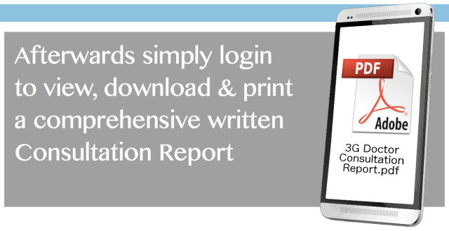 Login to view or download your Consultation Report