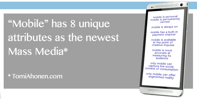 Mobile has 8 unique attributes as a mass media