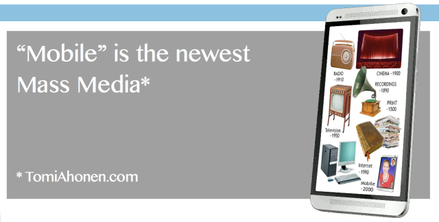 Mobile is the newest Mass Media