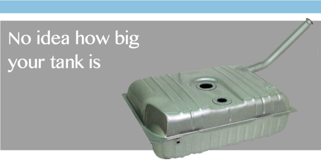 No idea how big your fuel tank is