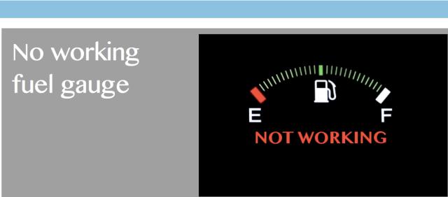 No working fuel gauge