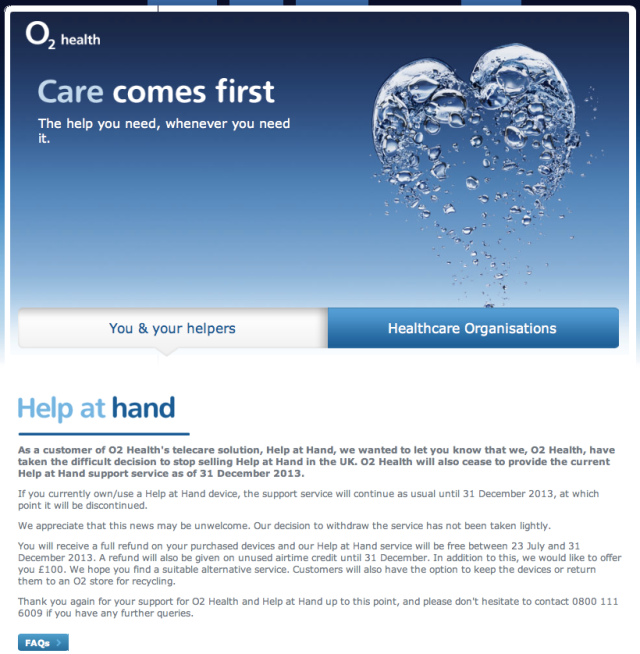 O2 Health Care Comes First until we lose interest in providing it