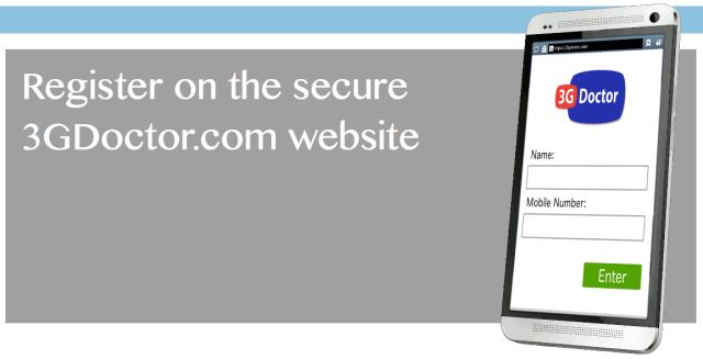 Register on the 3G Doctor Website