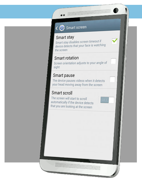 Samsung Smart Stay eye tracking application
