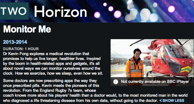 BBC 2 Horizon Monitor Me