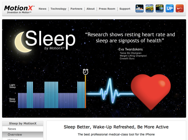 Sleep by Motion X FullPower