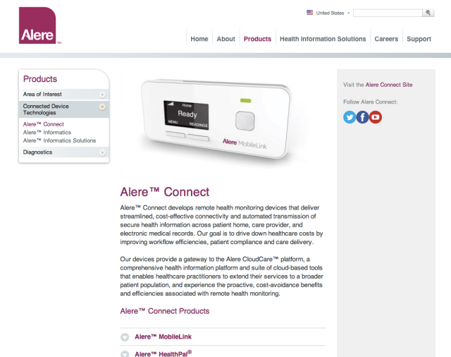 Alere Connect Website