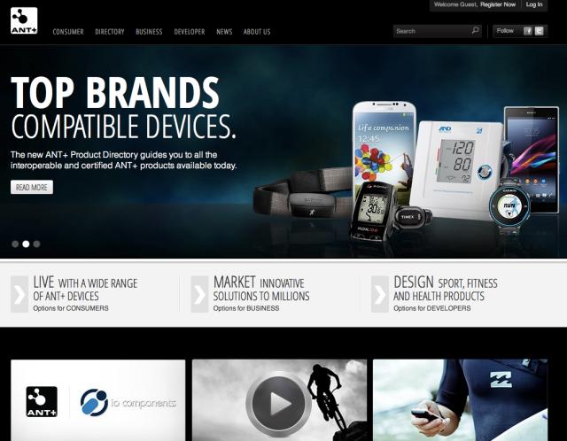 ANTPlus Website
