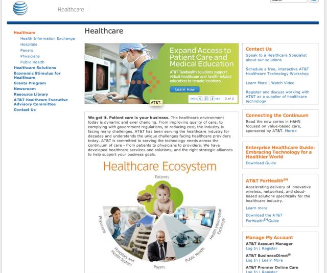 ATT Healthcare Website