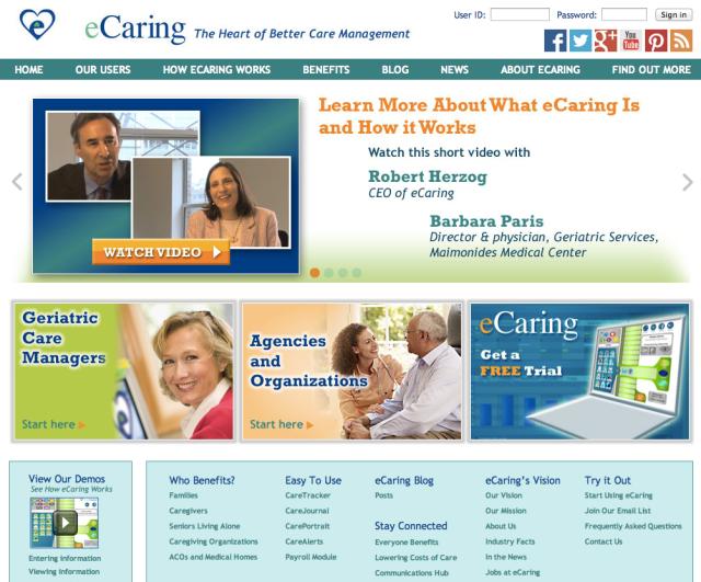 eCaring Website