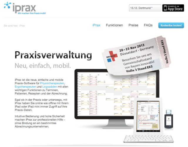 iPrax Systems Website
