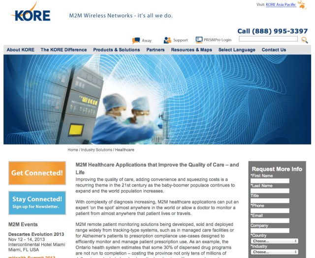 Kore Telematics Website