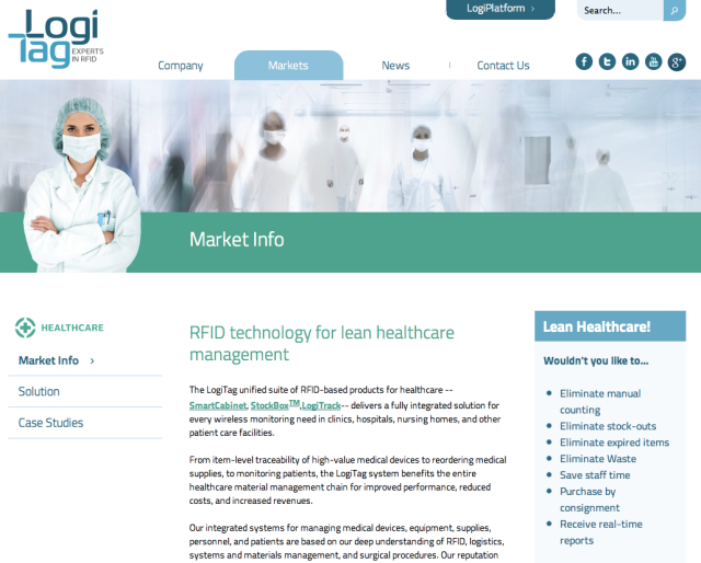 Logi Tag Website