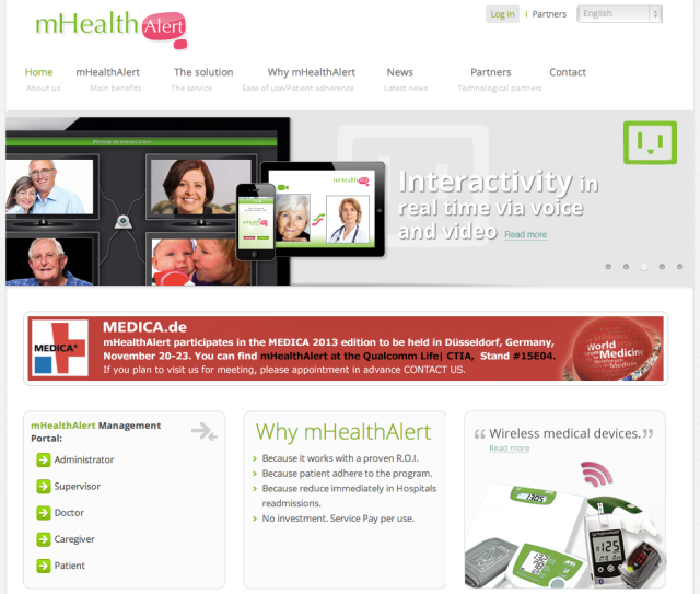 mHealth Alert Website