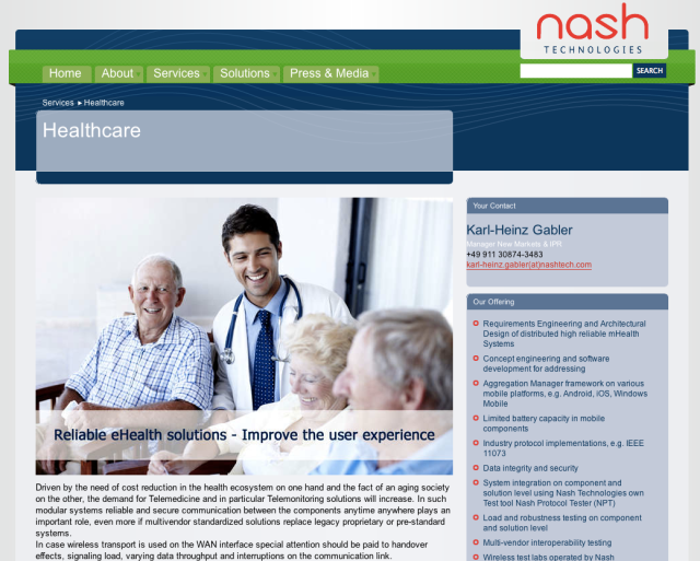 Nash Technologies Website