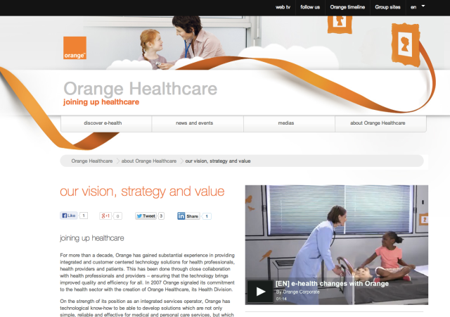 Orange Healthcare Website