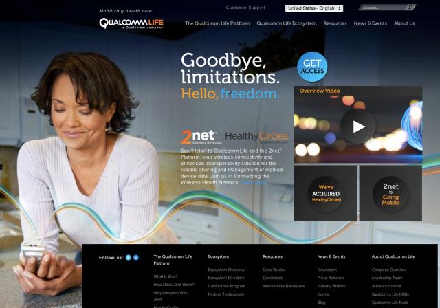 Qualcomm Life Website