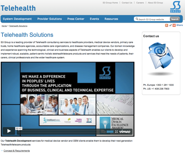 S3 Group TeleHealth Website