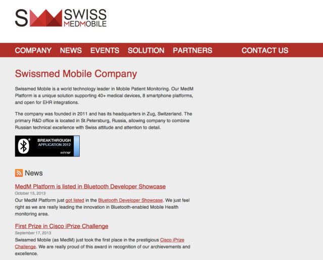 SwissMedMobile Website