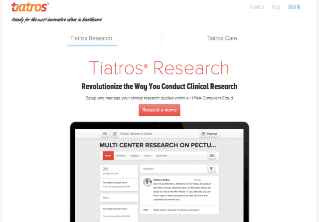 Tiatros Website