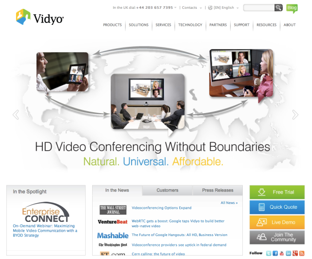 Vidyo Website