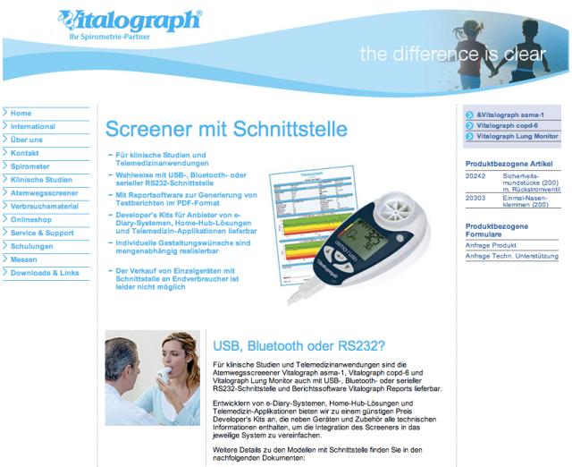 Vitalograph Website