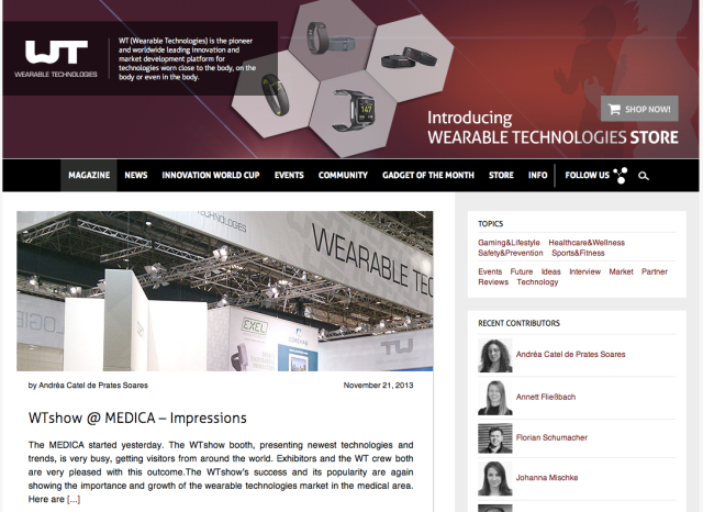 Wearable Technologies Website