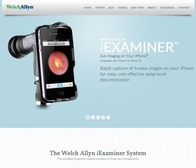 Welch Allyn iExaminer Website