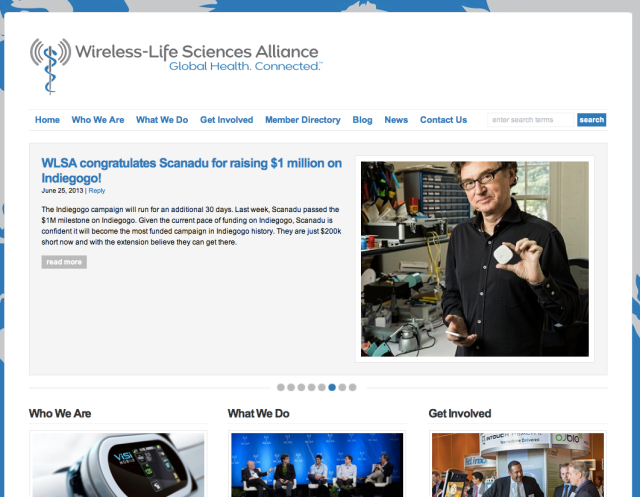 Wireless Life Science Alliance Website
