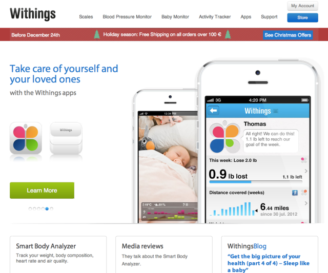 Withings Website