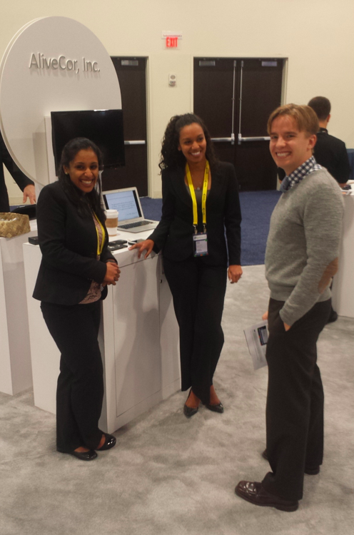 All smiles on the Alivecor ECG Booth #mHealth13