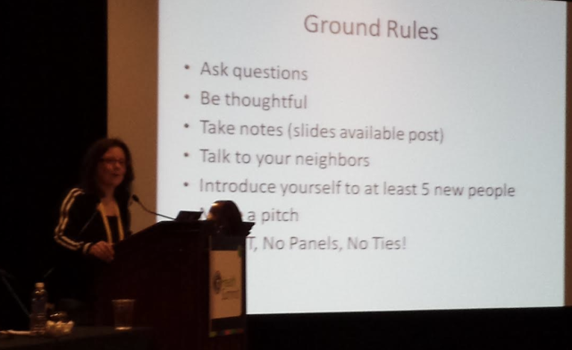 Caroline Lewko presenting Ground Rules for WipJam at mHealth Summit 2013