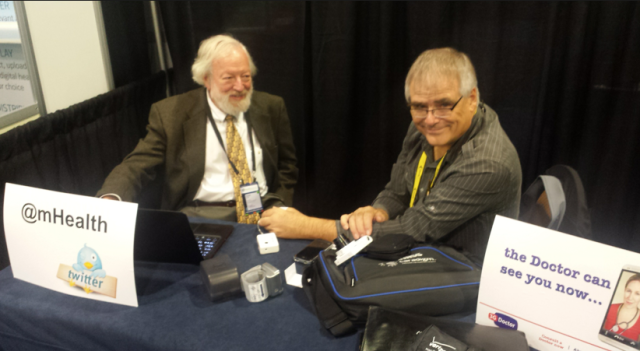 David Gerdt EmpiricalTC and Dr Chris Bickford on 3GDoctor booth #mHealth13